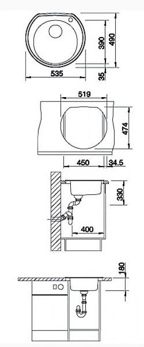 Кухонная мойка Blanco Rondoval (513313)