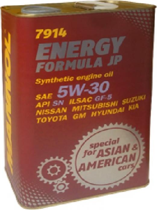 Масло моторное Mannol (SCT) Energy Formula JP 5w30 (4л) синтетика металл 7914