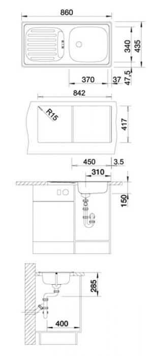 Кухонная мойка Blanco Flex (511917)