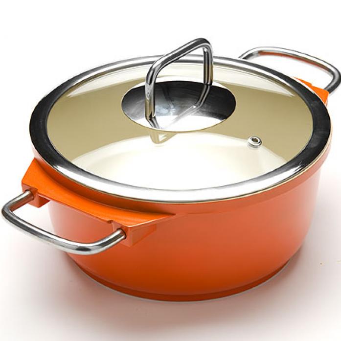 Кастрюля MAYER&BOCH 21236-1 оранжевый
