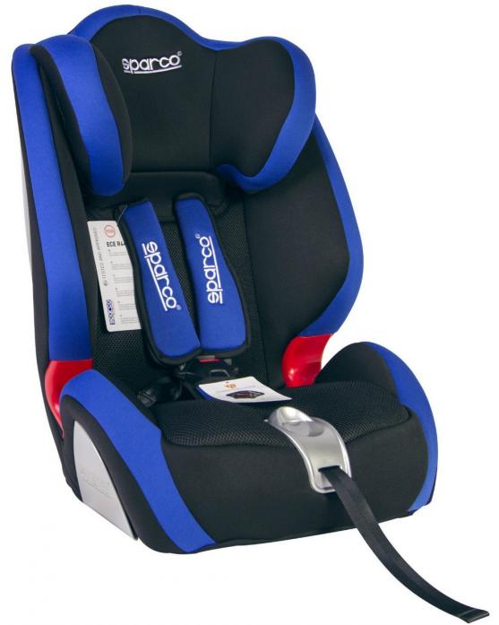 Автокресло SPARCO F 1000 K черный/голубой