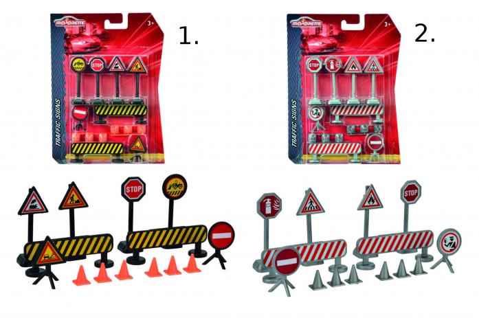 Игровой набор Majorette Дорожные знаки 14 элементов 2053001