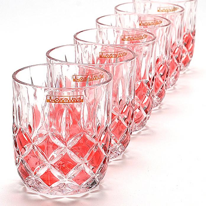 Набор стаканов 6 предметов LORAINE LR-20221-3 красный
