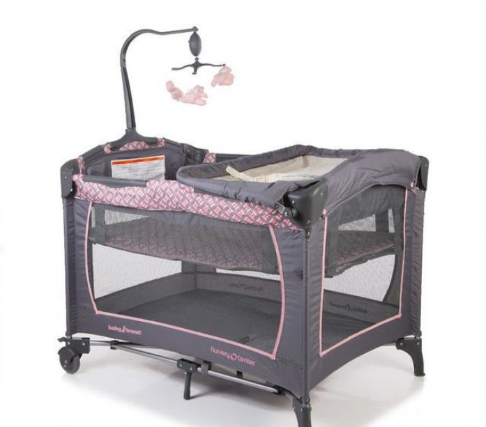 Манеж Baby Trend PY81999 Серый/Розовый