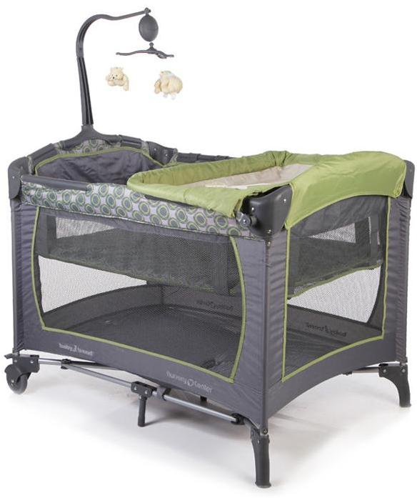 Манеж Baby Trend PY81400 Серый/Зеленый