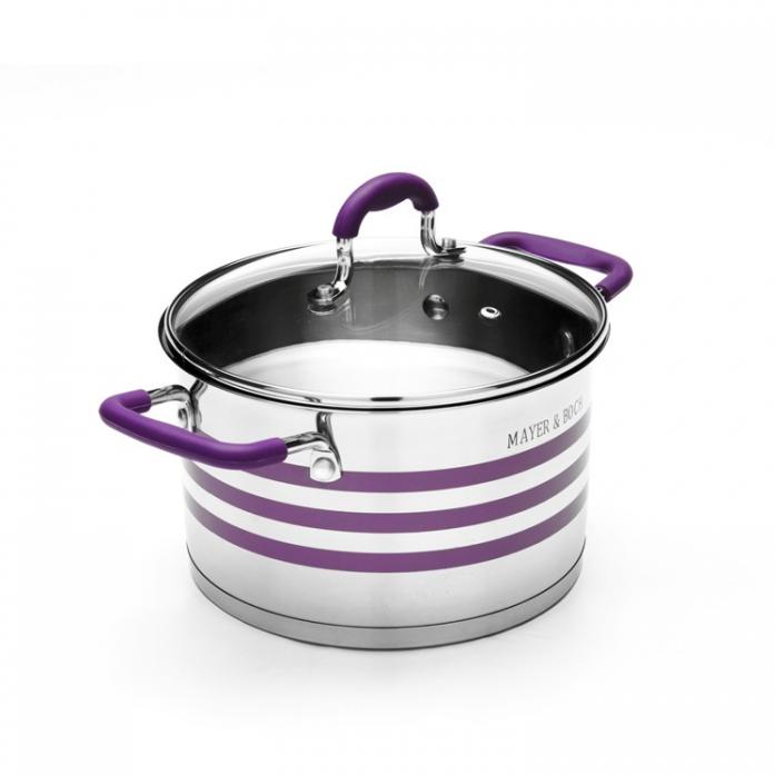 Кастрюля MAYER&BOCH MB-24051 фиолетовая