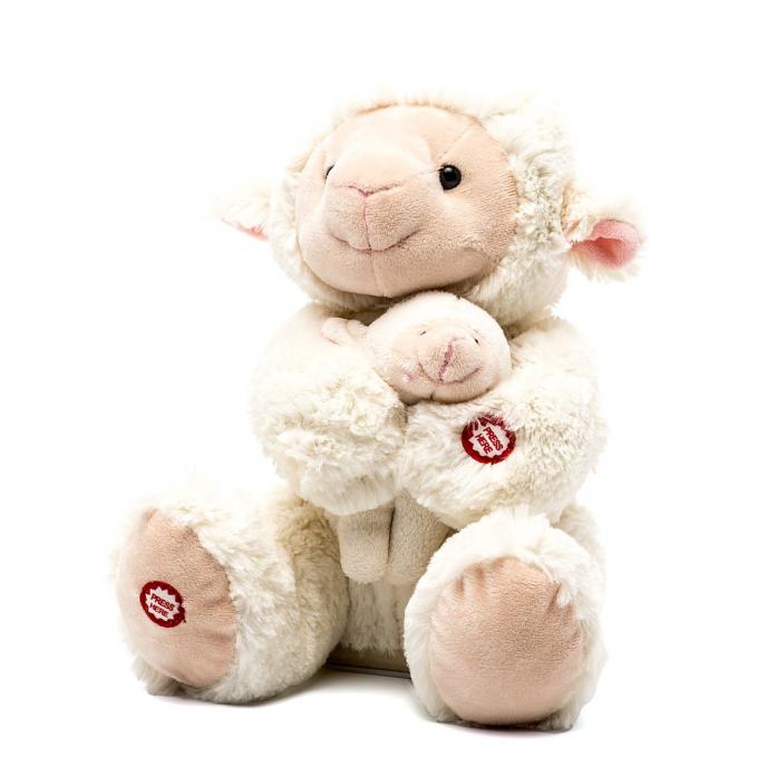 Игрушка интерактивная Fluffy Family Мама и малыш Овечка 681018
