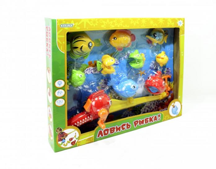 Игрушка для ванной Bairun Рыбалка + 9 рыбок Y9436015