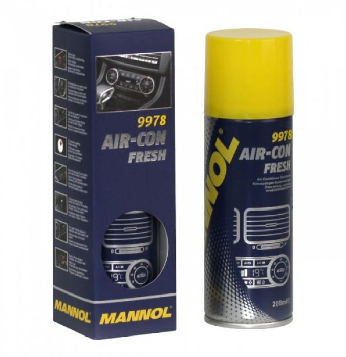 Очиститель системы кондиционирования Mannol (SCT) Air-Con Fresh 200мл 2149/9978