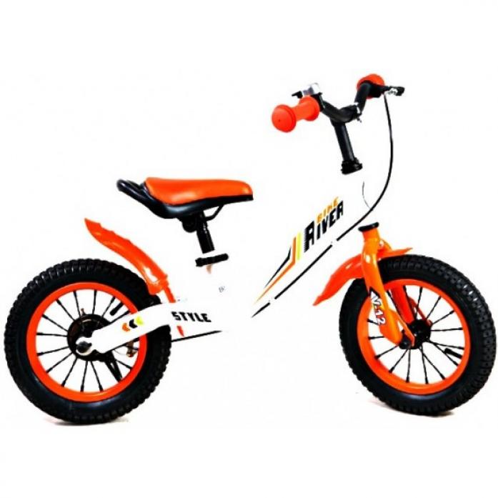 Беговел Rivertoys V-12 оранжево-белый