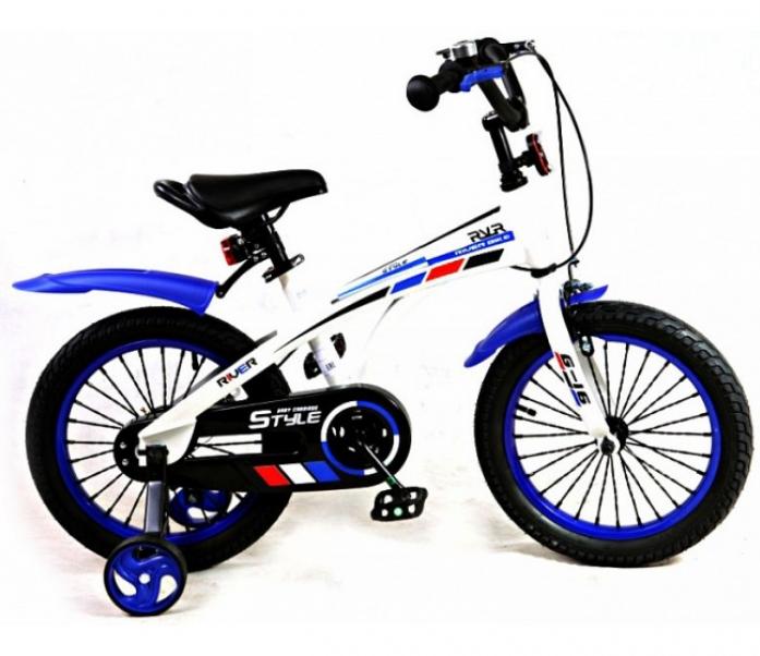 Велосипед двухколесный Rivertoys G-14 бело-синий