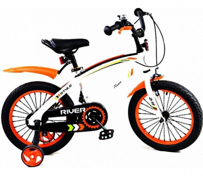 Велосипед двухколесный Rivertoys Q-14 оранжевый