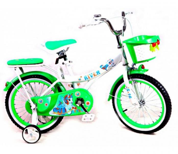 Велосипед двухколесный Rivertoys S-14 бело-зеленый
