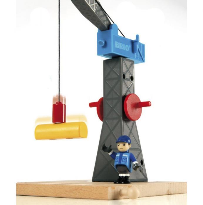 Игровой набор Brio Башенный подъемный кран (магнит) 33320