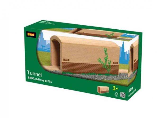 Железная дорога Brio Деревянный туннель с рельсами 33735