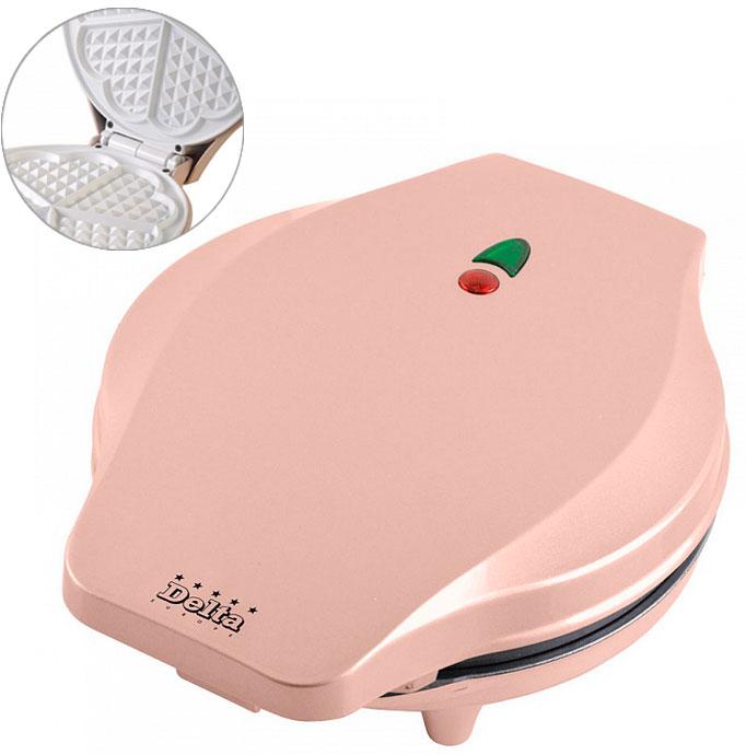 Вафельница DELTA DL-13К розовая