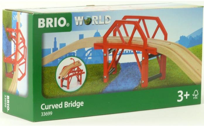 Железная дорога Brio Изогнутый мост 4 детали 33699