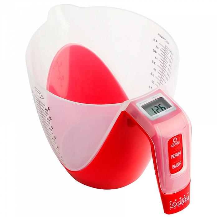 Кухонные весы DELTA КСЕ-18 (01) красные
