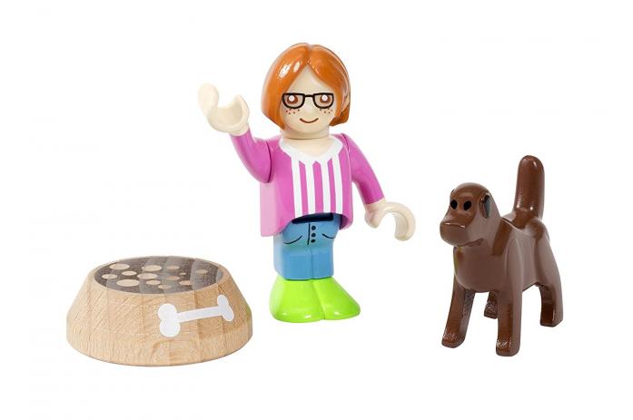 Игровой набор Brio Девочка с собакой (3 предмета) 33952