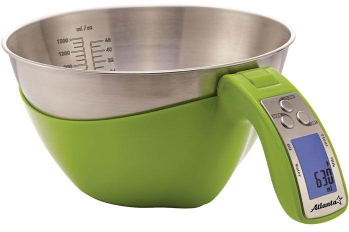 Кухонные весы ATLANTA ATH-800 зеленый