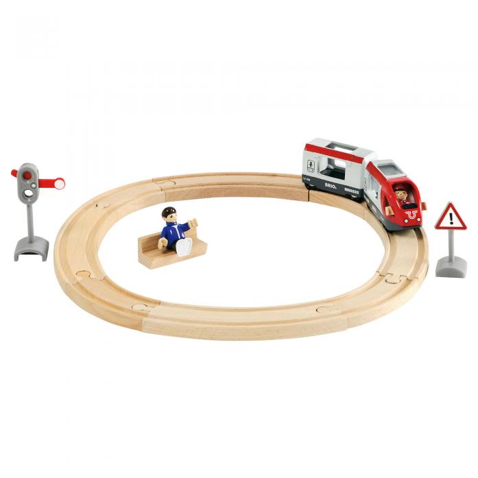 Железная дорога Brio со светофором и экспресс-поездом 33511