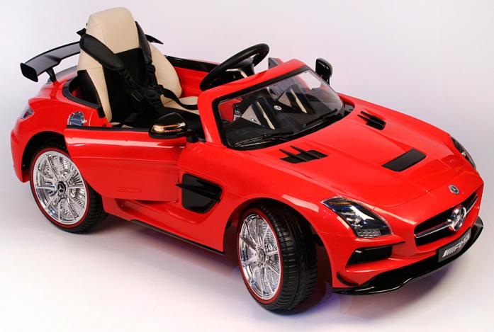Детский электромобиль Rivertoys Mercedes-Benz SLS А333АА красный VIP