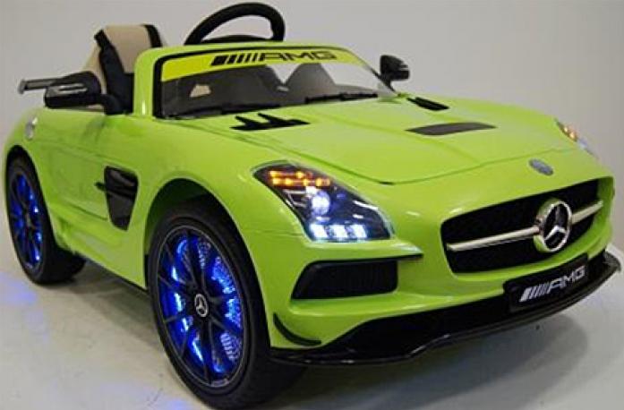 Детский электромобиль Rivertoys Mercedes-Benz SLS А333АА зеленый VIP