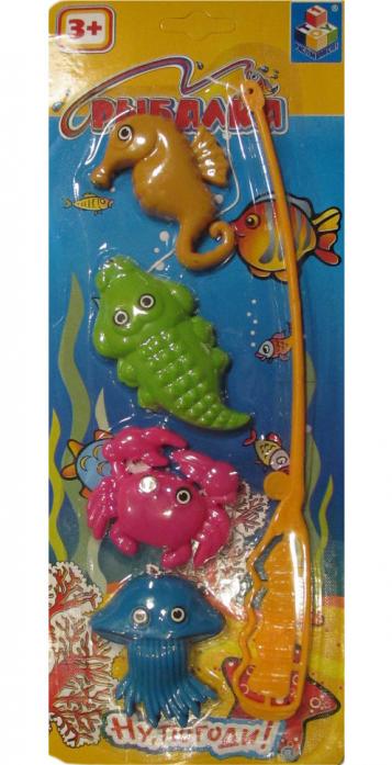 Игрушка для ванной 1toy Ну, Погоди! Рыбалка Т52131