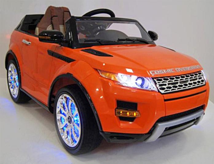 Детский электромобиль Rivertoys Range Rover А111АА оранжевый VIP