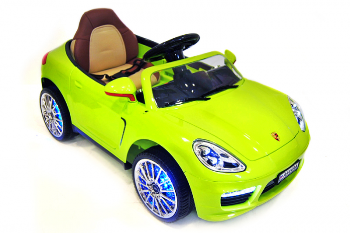 Детский электромобиль Rivertoys Porsche Panamera А444АА зеленый кожа