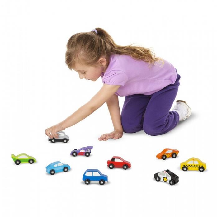 Деревянные игрушки Melissa&Doug набор автомобилей 3178M