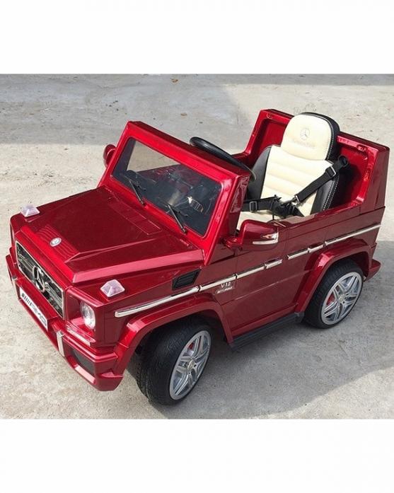Детский электромобиль Rivertoys Мercedes-Benz G65 LS-528-RED-GLANEC