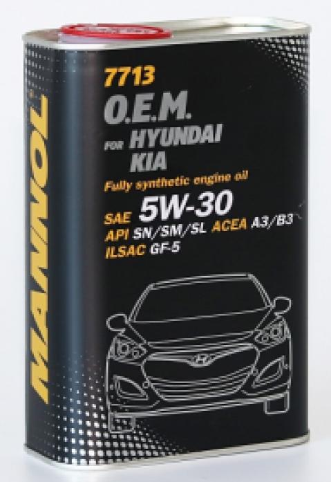 Масло моторное Mannol (SCT) 7713 O. E. M. for Hyundai Kia SAE 5w30 1л металл