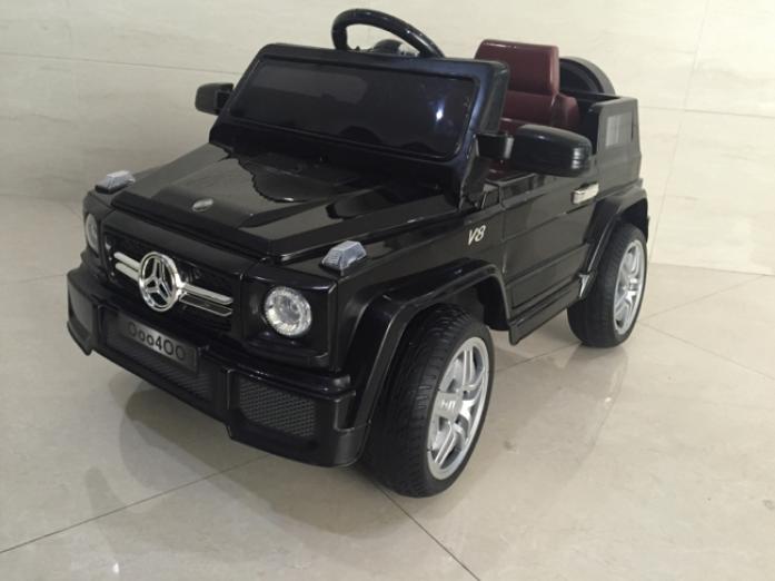 Детский электромобиль Rivertoys Mers О 004 ОО VIP черный резина сиденье кожа