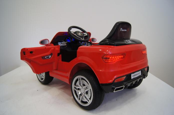 Детский электромобиль Rivertoys BMW O006OO-VIP-RED сиденье кожа