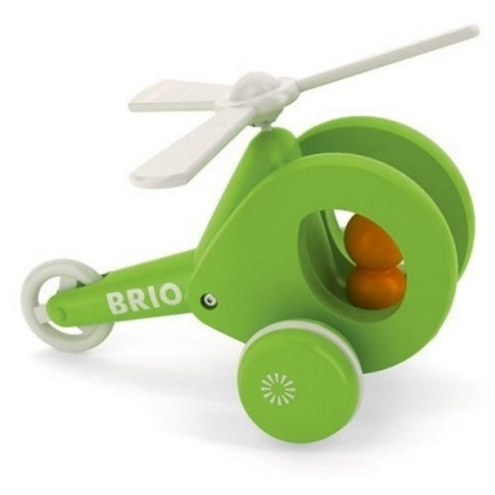 Каталка Brio Вертолет на веревочке 30195