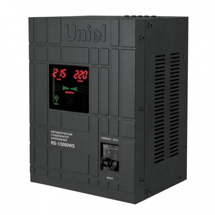 Стабилизатор напряжения Uniel 5000ВА RS-1/5000WS 07383