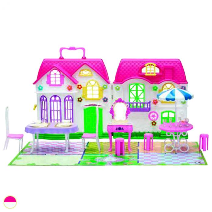 Игровой набор 1toy Красотка - Дом для кукол с мебелью (1 секция 29 предметов) Т56585