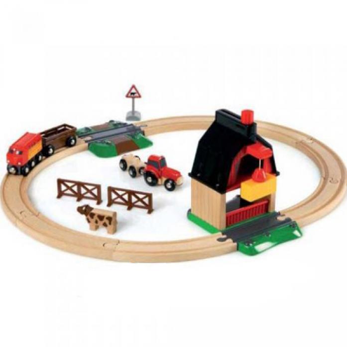 Железная дорога Brio С мини-фермой и кормушкой 33719
