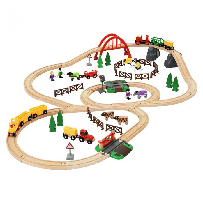 Железная дорога Brio Загородная жизнь с паровозиками 33516
