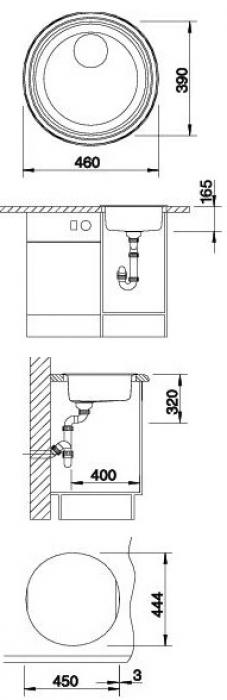 Кухонная мойка Blanco Rondosol (513308)