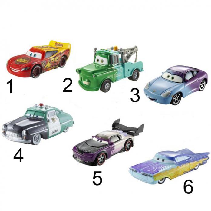 Машинки Mattel Тачки меняющие цвет CKD15