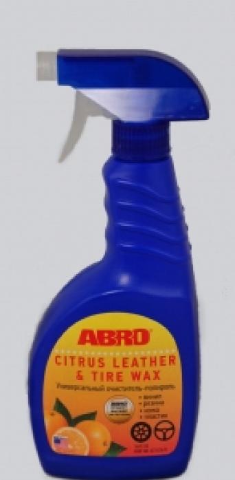 Универсальный очиститель-полироль ABRO с распылителем (Апельсин) 473мл CLT-016-R