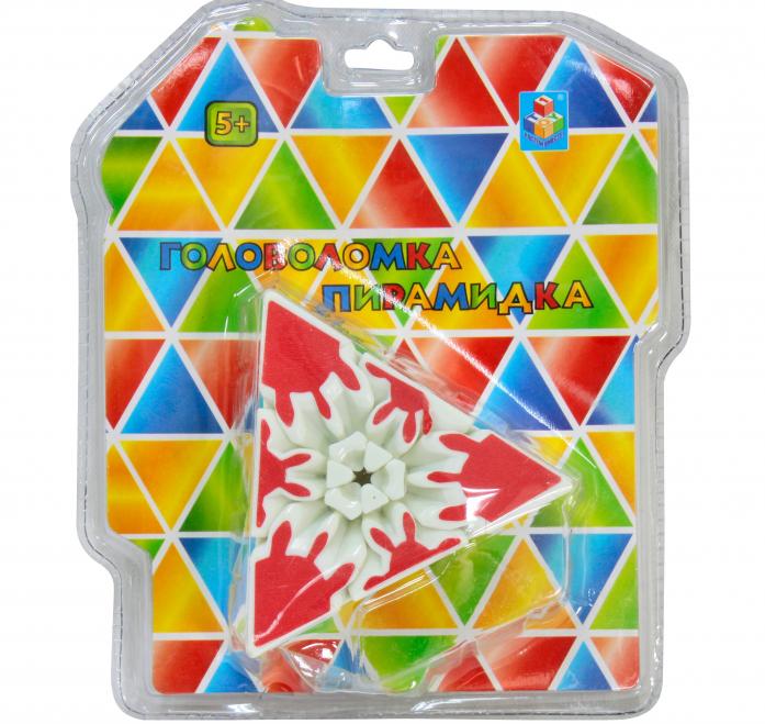 Игрушка 1toy Головоломка пирамидка 3D Т57364