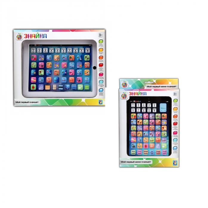 Игрушка 1toy Знайка - интерактивный двуязычный обучающий мини планшет Т57329