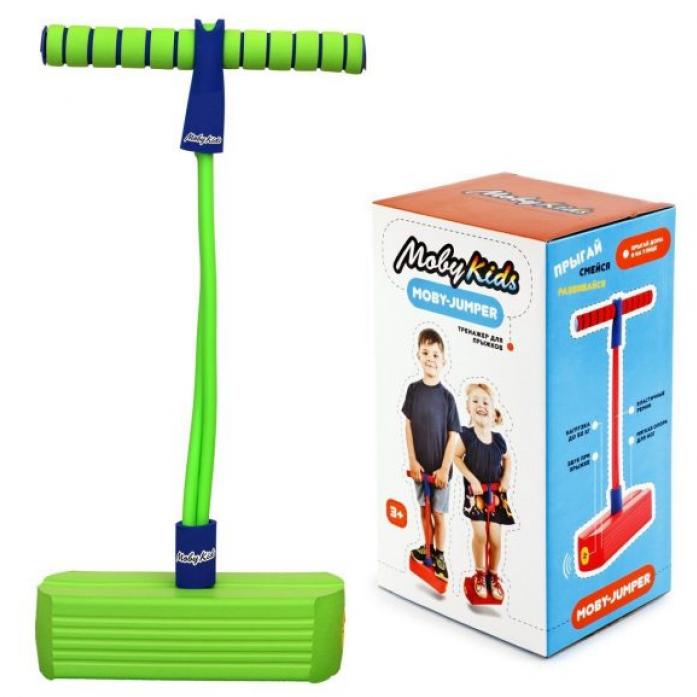 Мяч Moby Kids Moby-Jumper. Тренажер для прыжков со звуком, зелен. 68553