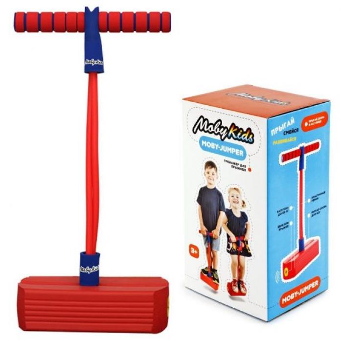Мяч Moby Kids Moby-Jumper. Тренажер для прыжков со звуком, красн. 68554