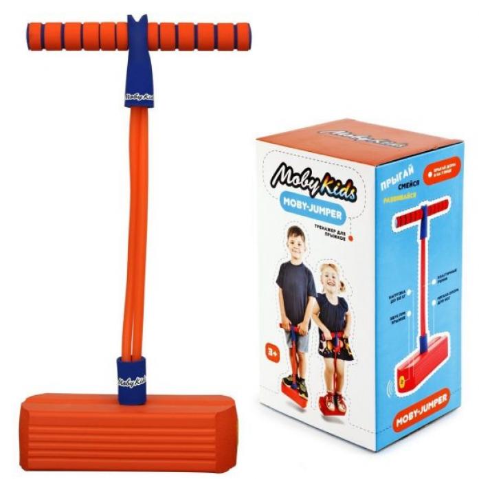 Мяч Moby Kids Moby-Jumper. Тренажер для прыжков со звуком, оранж. 68552