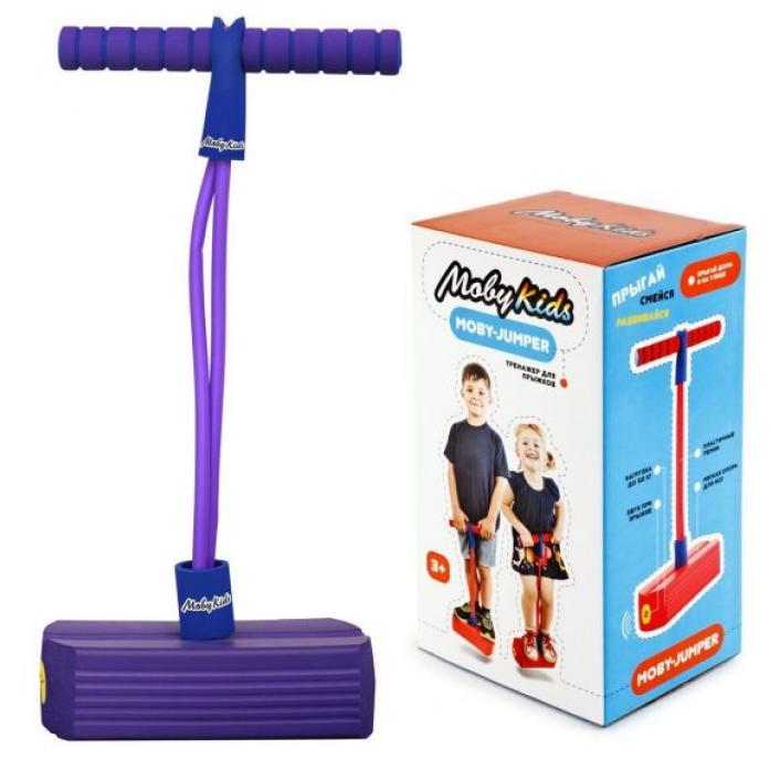 Мяч Moby Kids Moby-Jumper. Тренажер для прыжков со звуком, фиолет. 68551