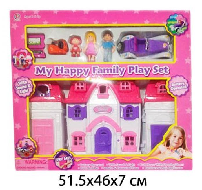 Дом для куклы Shantou Gepai с машинкой Моя счастливая семья 88011